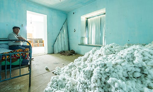 www.elmertex.de - Baumwollzwischenlager in Kirgisistan